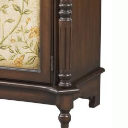 Hand Painted Brown Floral Accent Chest - Thumbnail 2