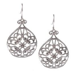 La Preciosa Sterling Silver Filigree Circle Earrings