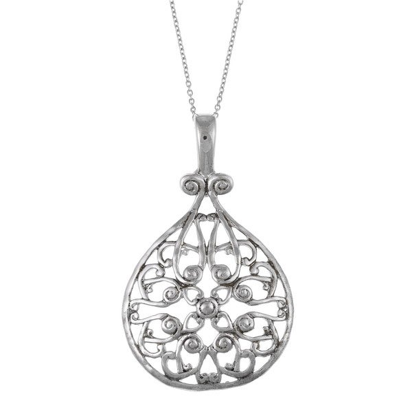La Preciosa Sterling Silver Filigree Circle Necklace