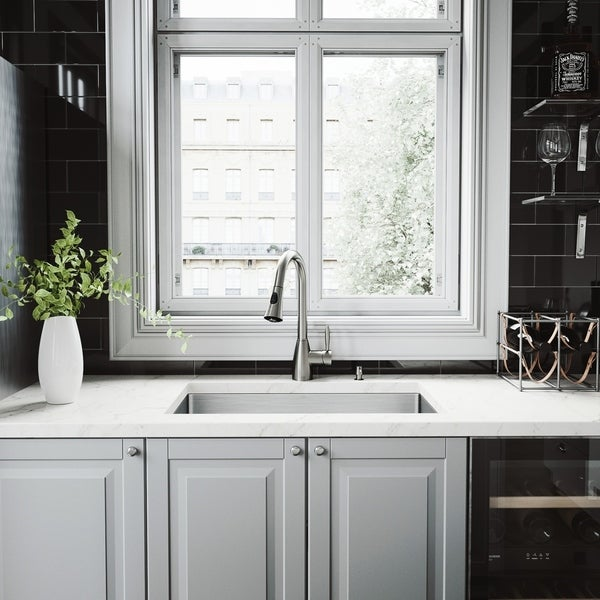 Shop Vigo Mercer Stainless Steel Kitchen Sink And Aylesbury Faucet
