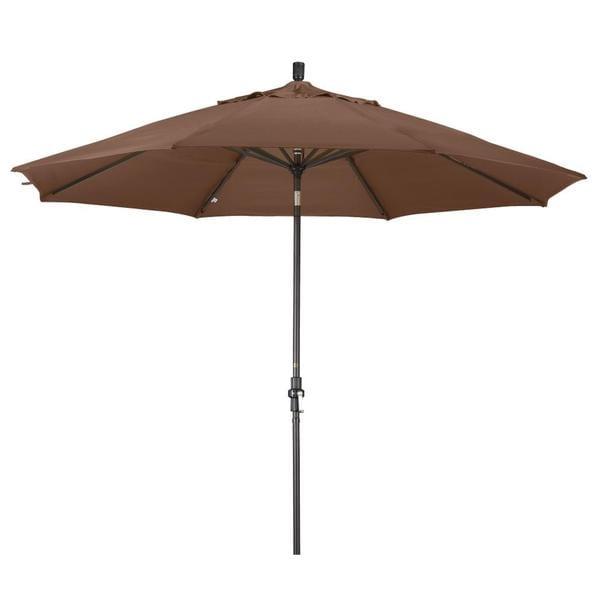 Aluminum 11 Ft Teak Patio Umbrella With Sunbrella