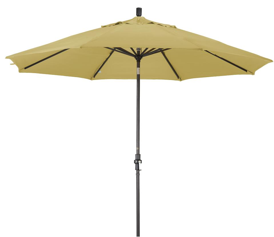 Alluminum 11 Ft Wheat Patio Umbrella With Sunbrella Free