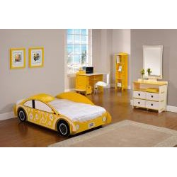 Legare Yellow and White 43-inch Kids' Desk and File Cart - Thumbnail 1