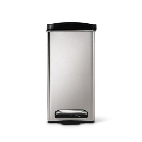 Simplehuman 2 6 Gal Brushed Stainless Steel Pedal Trash Can