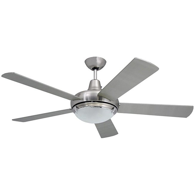 Contemporary 52-inch Nickel 2-light Ceiling Fan - Free Shipping Today ...