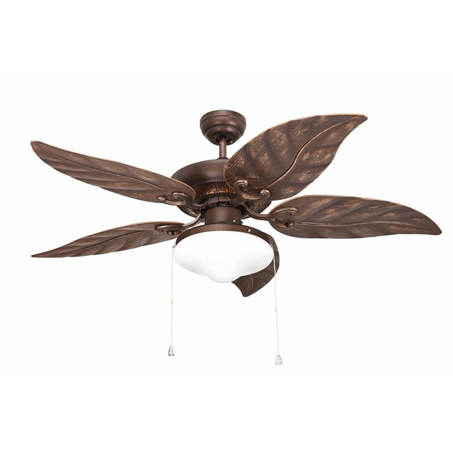 Outdoor 48 inch Rubbed Bronze 2 light Ceiling Fan Free