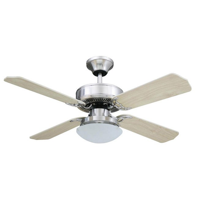 Transitional 42 Inch Brushed Nickel One Light Ceiling Fan