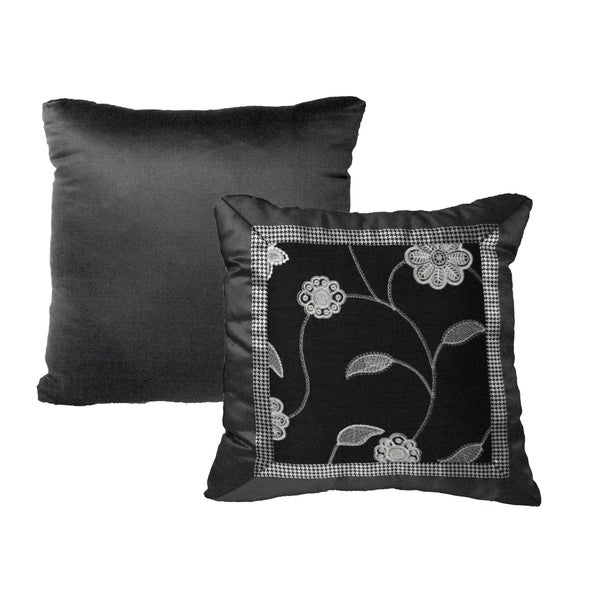 Rose Tree Plaza Decoratvie Throw Pillow