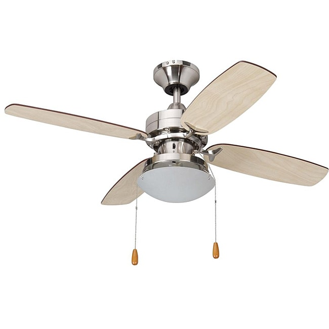 Contemporary Brushed Nickel Single-light Ceiling Fan - Thumbnail 0