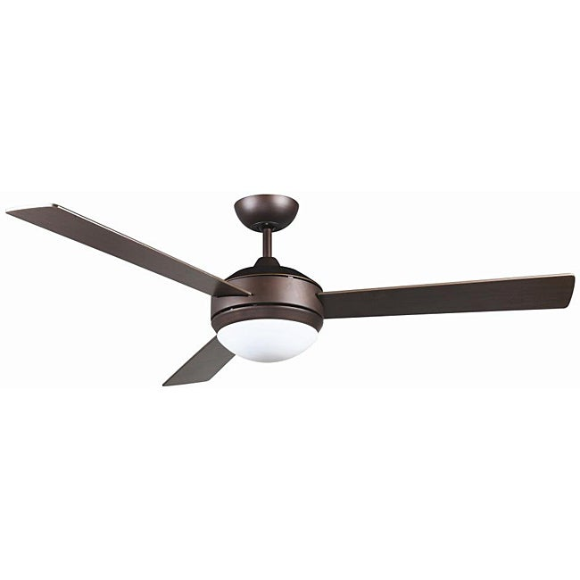 Contemporary Bronze Two-light Ceiling Fan - Thumbnail 0