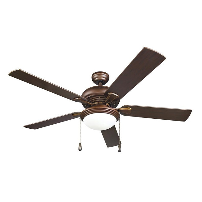 Contemporary Bronze 2-light Ceiling Fan - Thumbnail 0