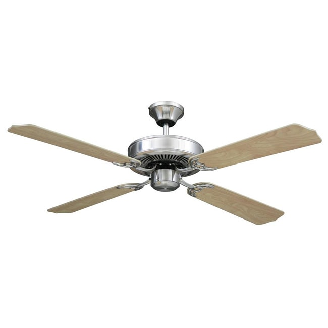Transitional Brushed Nickel Ceiling Fan