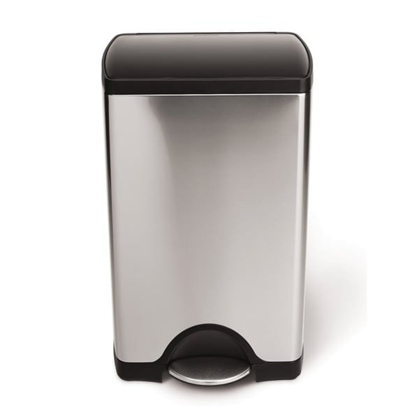 simplehuman 10-gal Brushed Steel Step Trash Can