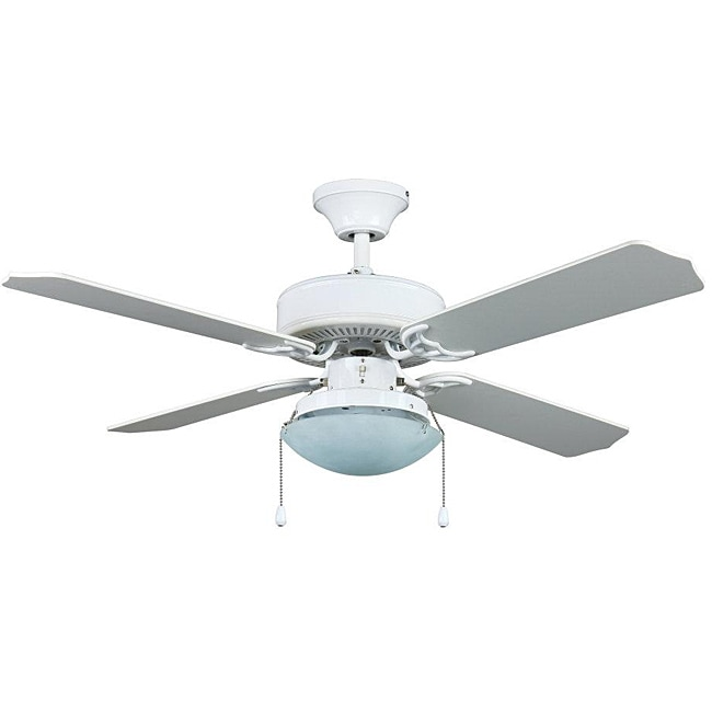 Transitional White One-Light Ceiling Fan - Free Shipping Today ...
