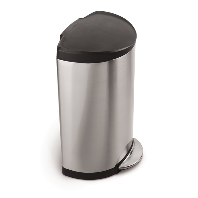 simplehuman 10.5-gal Brushed Steel Step Trash Can