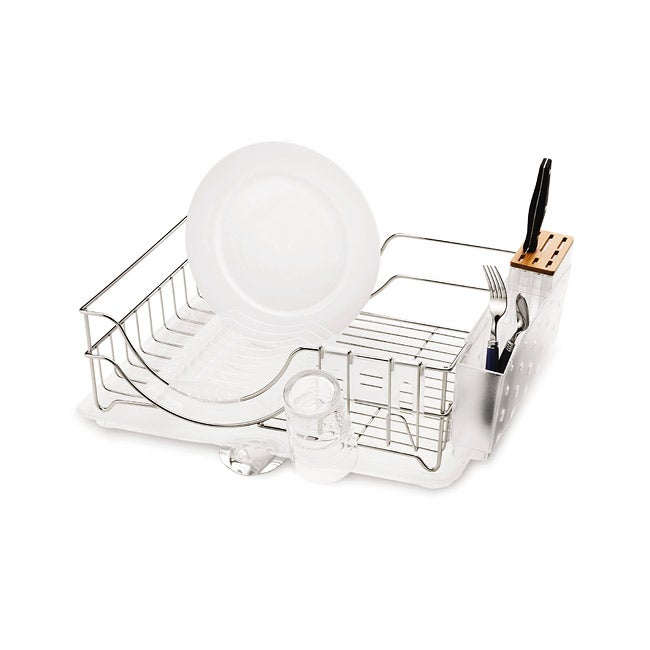 Simplehuman Steel Knife Block and Dish Rack