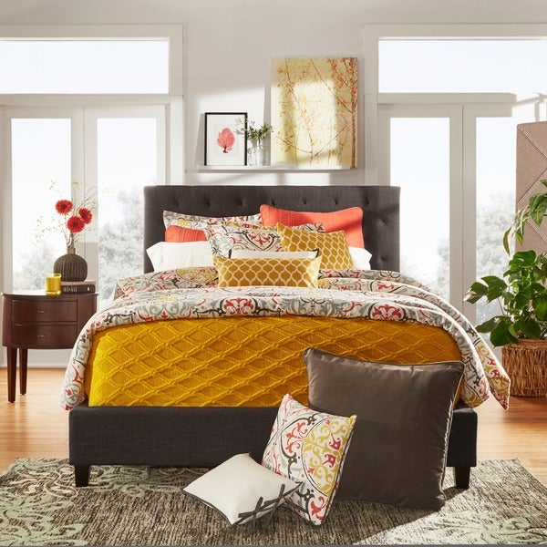 Sophie Tufted King Upholstered Bed by TRIBECCA HOME