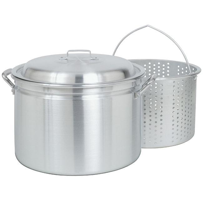 Bayou Classic 24-quart Steam/ Boil/ Fry Pot with Steamer Basket