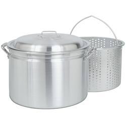 Bayou Classic 24-quart Steam/ Boil/ Fry Pot with Steamer Basket