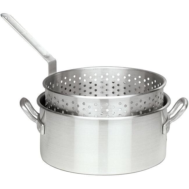 Shop Bayou Classic 10 Quart Fry Pot With Steamer Basket