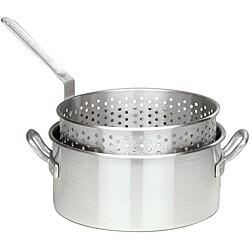 Bayou Classic 10-quart Fry Pot with Steamer Basket