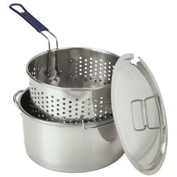 Bayou Classic 10 Quart Fry Pot With Steamer Basket Free