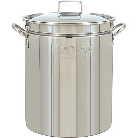 Bayou Classic 44-quart Stainless Steel Stockpot with Lid