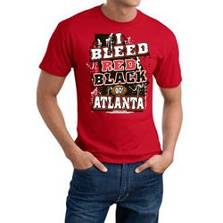 Men's Atlanta Falcons Football 'I Bleed Red and Black' Cotton Tee