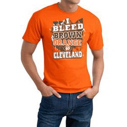 Cleveland Football 'I Bleed Brown and Orange' Orange Cotton Tee