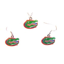 Florida Gators Necklace and Dangle Earring Charm Set - Thumbnail 0