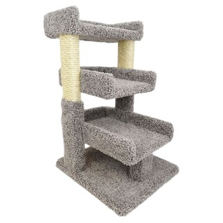New Cat Condos Sisal Rope 33-inch Triple Cat Perch (Option: Gray)