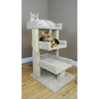 New Cat Condos Sisal Rope 33-inch Triple Cat Perch