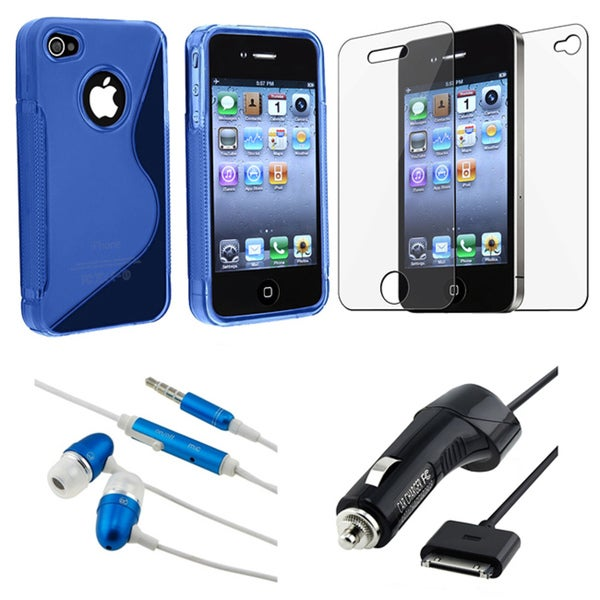 BasAcc TPU Case/ LCD Protector/ Charger/ Headset for Apple iPhone 4
