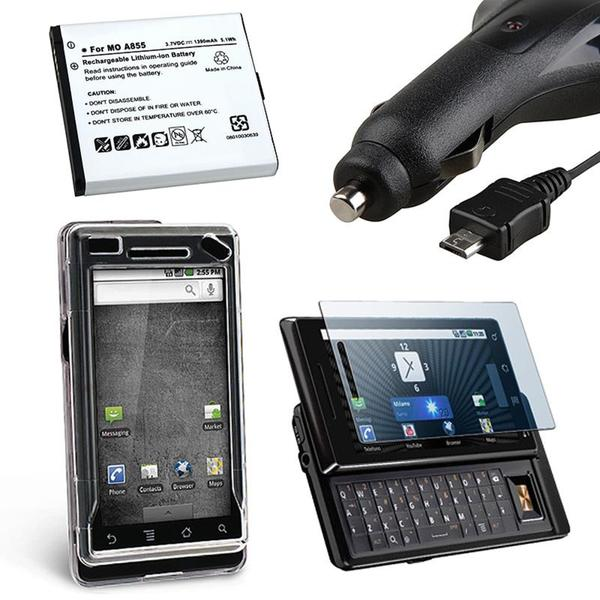 Case/ Screen Protector/ Car Charger/ Battery for Motorola Droid A855