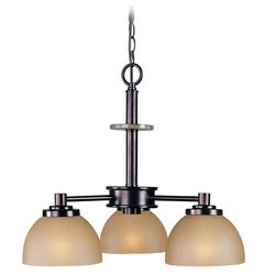 Woodbridge Lighting Ajo 3-light Cordovan Chandelier