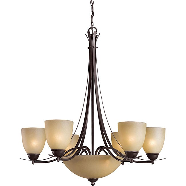 Woodbridge Lighting Kearney 8-light Mahagony Bronze Chandelier - Thumbnail 0