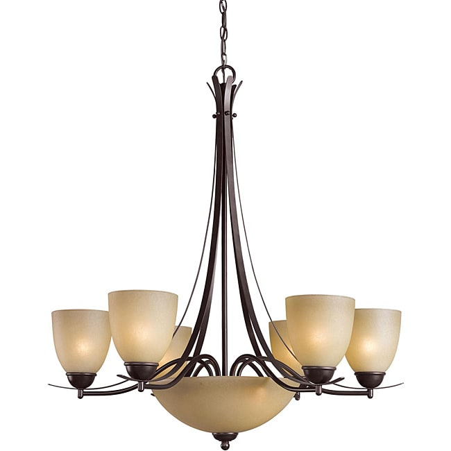 Woodbridge Lighting Kearney 8-light Mahagony Bronze Chandelier