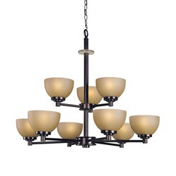 Woodbridge Lighting Ajo 9-light Cordovan Chandelier