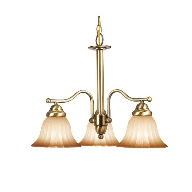 Woodbridge Lighting Morgan Park 3-light Classic Brass Chandelier