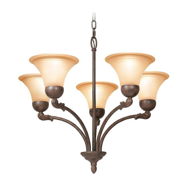 Woodbridge Lighting Darien 5-light Restoration Bronze Chandelier