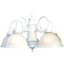 Woodbridge Lighting Basic 5-light White Marble Glass Chandelier