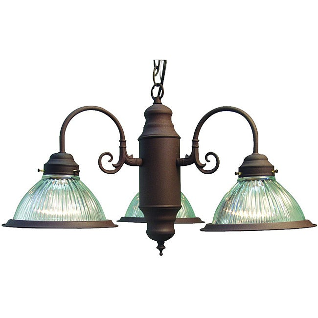 Woodbridge Lighting Basic 3-light Antique Bronze Chandelier - Thumbnail 0