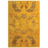 Safavieh Handmade Silk Road Gold New Zealand Wool/ Viscose Rug (7'6 x 9'6)