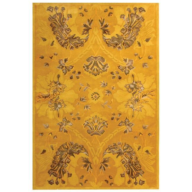 Safavieh Handmade Silk Road Gold New Zealand Wool/ Viscose Rug - 7'6 x 9'6