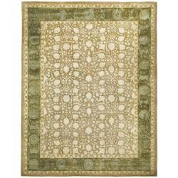 Safavieh Handmade Silk Road Ivory/ Sage New Zealand Wool Rug (8'3 x 11') - Thumbnail 1