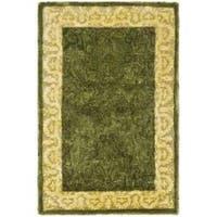 Safavieh Handmade Silk Road Green/ Ivory New Zealand Wool Rug - 2' x 3'