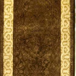 Safavieh Handmade Silk Road Chocolate/ Light Gold New Zealand Wool Rug (2'6 x 10') - Thumbnail 2