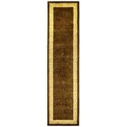 Safavieh Handmade Silk Road Chocolate/ Light Gold New Zealand Wool Rug (2'6 x 10') https://ak1.ostkcdn.com/images/products/6165939/77/357/Handmade-Majestic-Chocolate-N.-Z.-Wool-Rug-26-x-10-P13821781.jpg?impolicy=medium