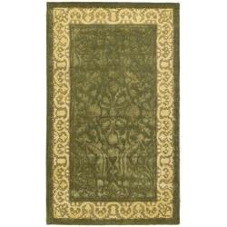 Safavieh Handmade Silk Road Majestic Green/ Ivory N. Z. Wool Rug (3' x 5')