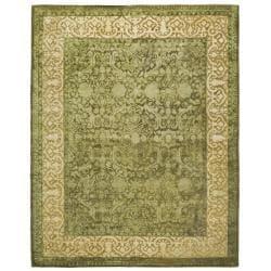 Safavieh Handmade Silk Road Green/ Ivory New Zealand Wool Rug (7'6 x 9'6)
